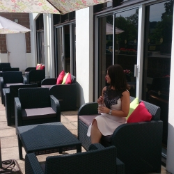Al fresco seating area outside our bar/lounge