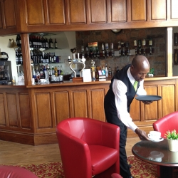 The Promenade Bar at the Fort d'Auvergne Hotel