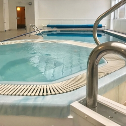 Spa pool and indoor swimming pool