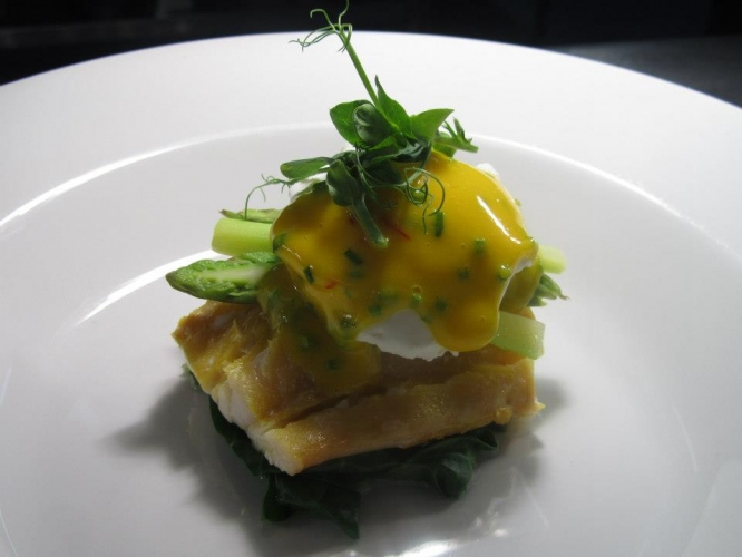 Smoked Haddock with Asparagus & Poached Hen's Egg