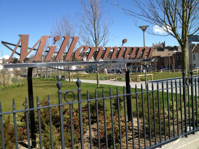 Entrance to Millennium Town Park