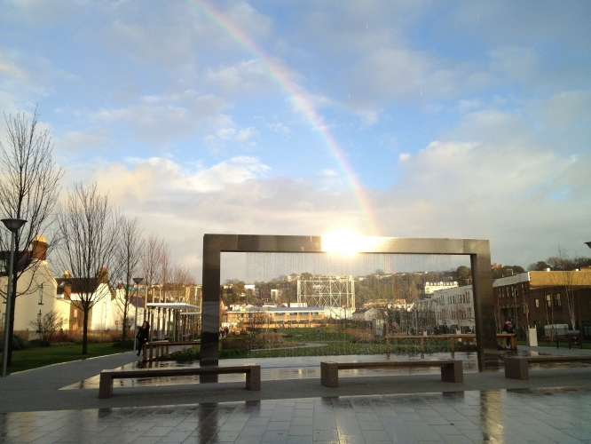 A Rainbow In The Millennium Town Park, St Helier - Near the Monterey, Norfolk Lodge  & Royal Hotels