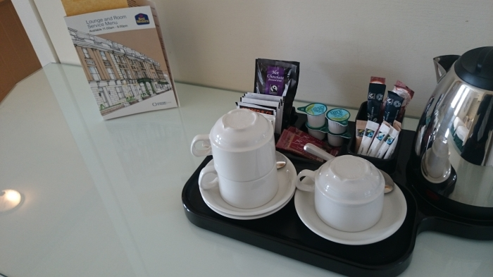 Tea, coffee and hot chocolate provided in each bedroom